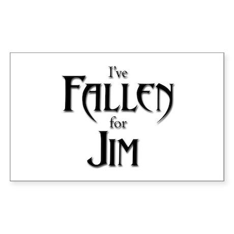 I've Fallen for Jim Rectangular Sticker