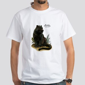 Black Panther White T-Shirt