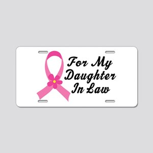 Pink Ribbon For Daughter-in-Law Aluminum License P