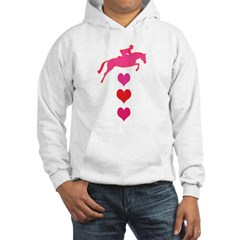 jumping horse & hearts Hoodie