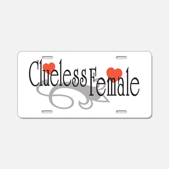 Clueless Female Aluminum License Plate