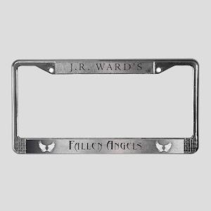 Silver JR Ward's Fallen Angels License Plate Frame