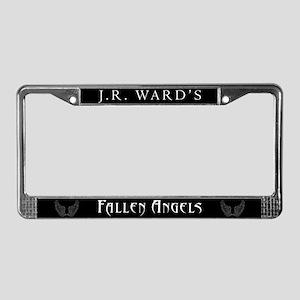 Black JR Ward's Fallen Angels License Plate Frame
