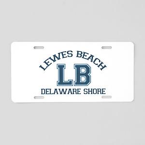 Lewes Beach DE - Varsity Design. Aluminum License