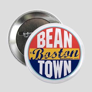 "Boston Vintage Label 2.25"" Button"