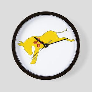 New Mexico Democrat Donkey Flag Wall Clock