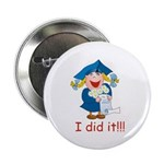 I Did It! (girl) Button