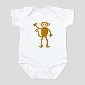 Cute Waving Monkey Infant Bodysuit