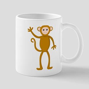 Cute Waving Monkey Mug