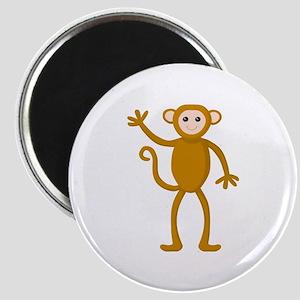 Cute Waving Monkey Magnet