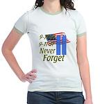 9-11 / Flag / Never Forget Jr. Ringer T-Shirt