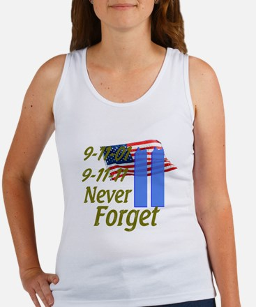 9-11 / Flag / Never Forget Women's Tank Top