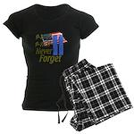 9-11 / Flag / Never Forget Women's Dark Pajamas