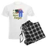 9-11 / Flag / Never Forget Men's Light Pajamas