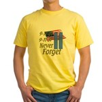 9-11 / Flag / Never Forget Yellow T-Shirt