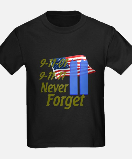 9-11 / Flag / Never Forget T