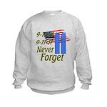 9-11 / Flag / Never Forget Kids Sweatshirt