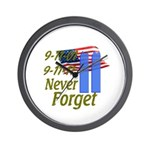 9-11 / Flag / Never Forget Wall Clock
