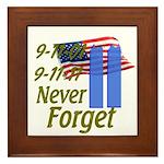9-11 / Flag / Never Forget Framed Tile
