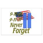 9-11 / Flag / Never Forget Large Poster