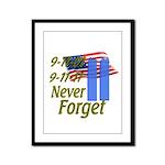 9-11 / Flag / Never Forget Framed Panel Print
