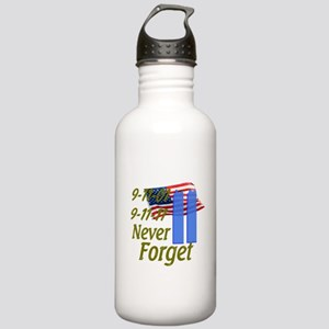 9-11 / Flag / Never Forget Stainless Water Bottle