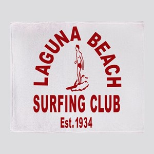Laguna Beach Surfing Club Throw Blanket