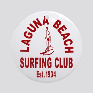 Laguna Beach Surfing Club Ornament (Round)