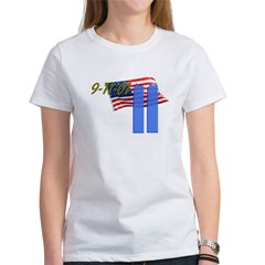 9-11 with Flag, Buildings Women's T-Shirt
