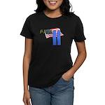 9-11 with Flag, Buildings Women's Dark T-Shirt