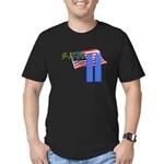9-11 with Flag, Buildings Men's Fitted T-Shirt (da