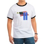 9-11 with Flag, Buildings Ringer T