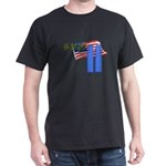 9-11 with Flag, Buildings Dark T-Shirt
