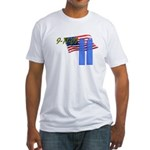 9-11 with Flag, Buildings Fitted T-Shirt