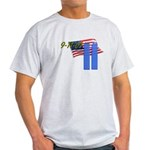 9-11 with Flag, Buildings Light T-Shirt