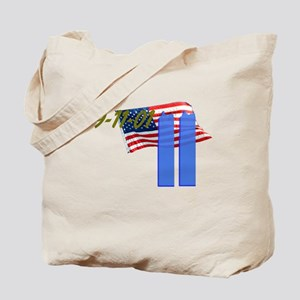 9-11 with Flag, Buildings Tote Bag