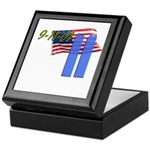 9-11 with Flag, Buildings Keepsake Box