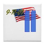 9-11 with Flag, Buildings Tile Coaster