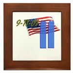 9-11 with Flag, Buildings Framed Tile