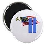 9-11 with Flag, Buildings Magnet