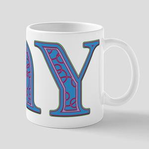 Jay Blue Glass Mug