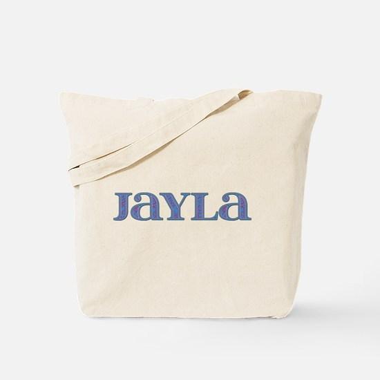 Jayla Blue Glass Tote Bag