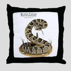 Black-Tailed Rattlesnake Throw Pillow