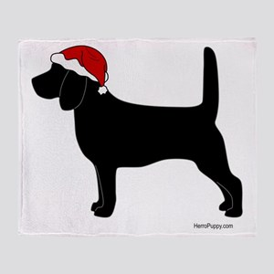 Beagle Santa Throw Blanket
