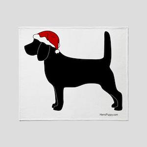 Beagle Santa Throw Blanket