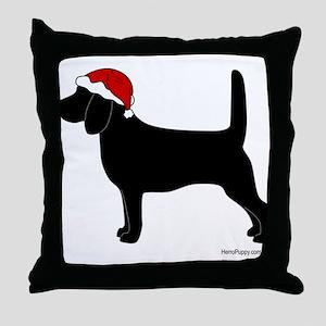 Beagle Santa Throw Pillow
