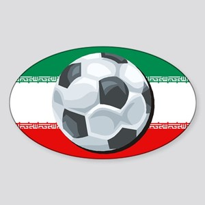 Iran Soccer Oval Sticker