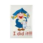 I Did It! (girl) Rectangle Magnet (100 pack)