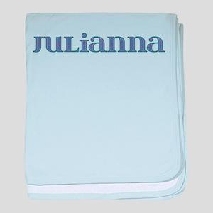 Julianna Blue Glass baby blanket