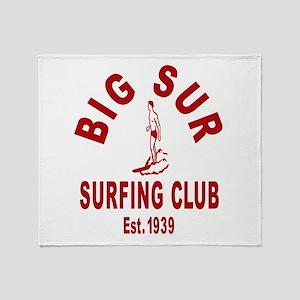 Vintage Big Sur Surfing Club Throw Blanket